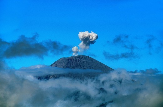 Stock Photo: 1890-150253 Caldeira and Bromo at 2329 m, and Semeru at 3676m, volcanoes on Java, Indonesia, Southeast Asia, Asia