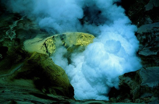 Stock Photo: 1890-150561 Bromo volcano crater on Java, Indonesia, Southeast Asia, Asia