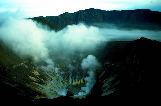 Stock Photo: 1890-150562 Bromo volcano crater on Java, Indonesia, Southeast Asia, Asia