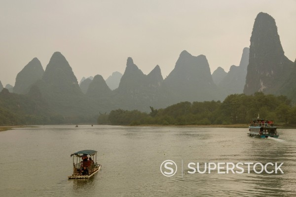 Li River, Guilin, Guangxi, China, Asia : Stock Photo