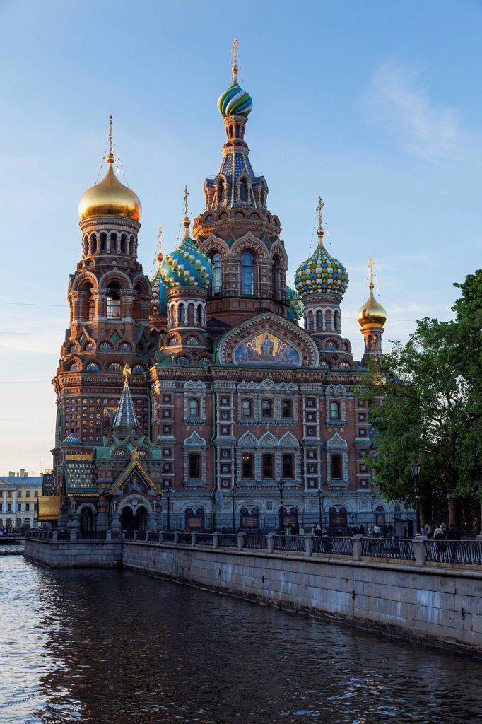 Stock Photo: 1890-152099 The Church on Spilled Blood, UNESCO World Heritage Site, on the Kanal Griboedova, St. Petersburg, Russia, Europe