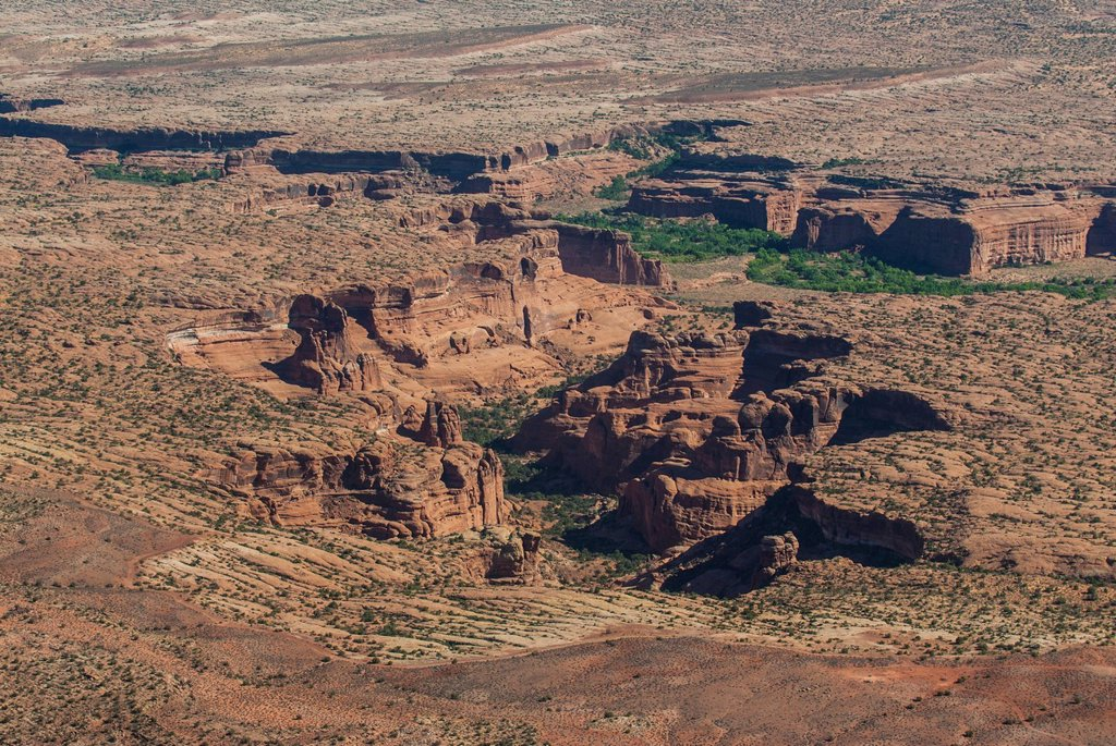 Aerial view, Canyonlands National Park, Utah, United States of America, North America : Stock Photo