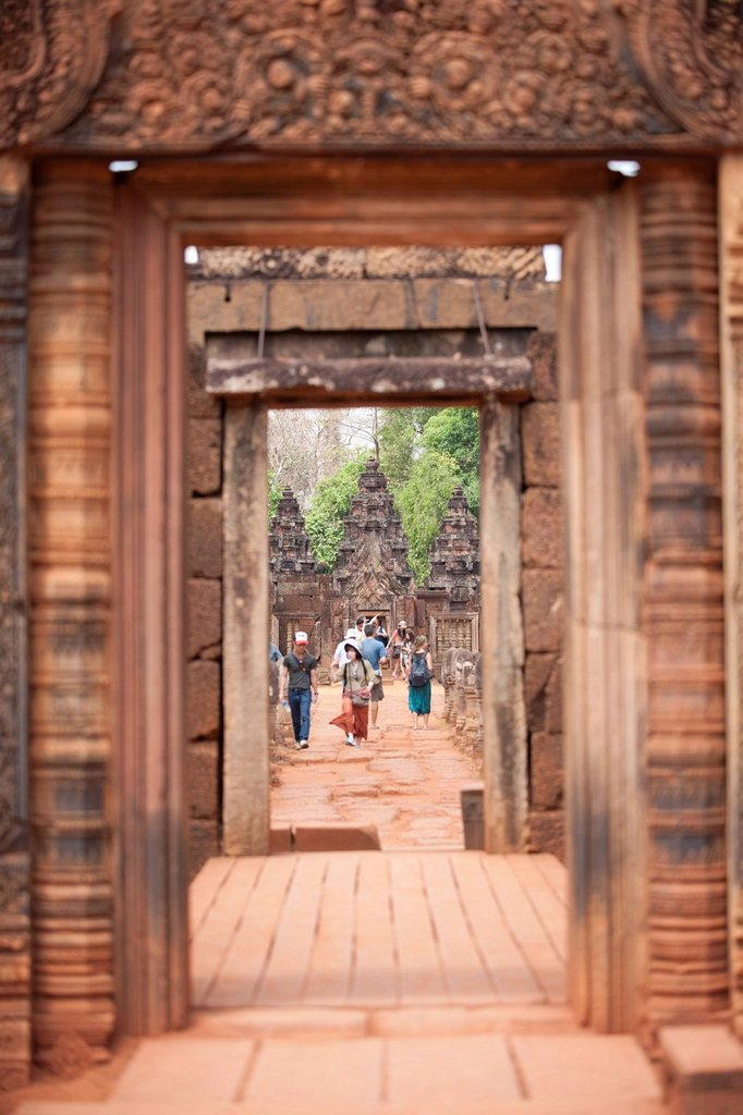 Banteay Srei Temple, Angkor, UNESCO World Heritage Site, Siem Reap, Cambodia, Indochina, Southeast Asia, Asia : Stock Photo