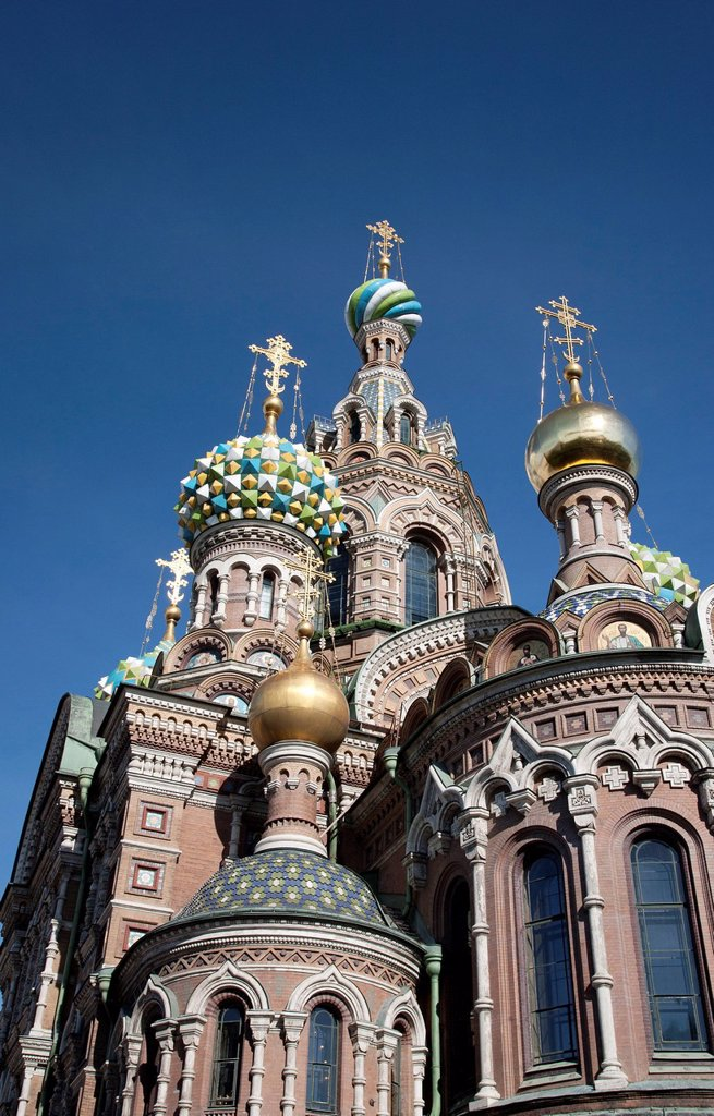 Stock Photo: 1890-153041 The Church of Spilled Blood, UNESCO World Heritage Site, St. Petersburg, Russia, Eurpe