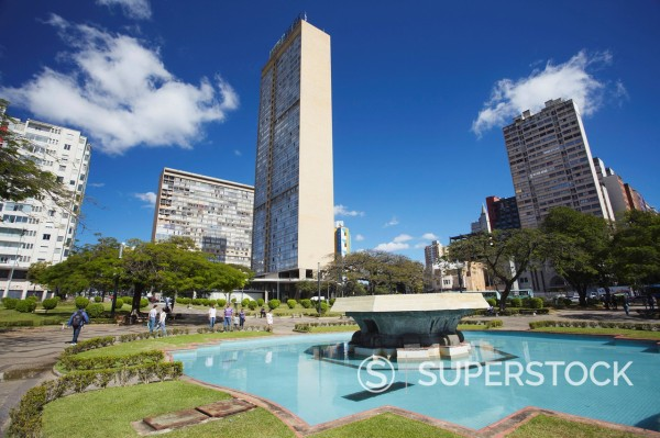 Praca Raoul Soares, Belo Horizonte, Minas Gerais, Brazil, South America : Stock Photo