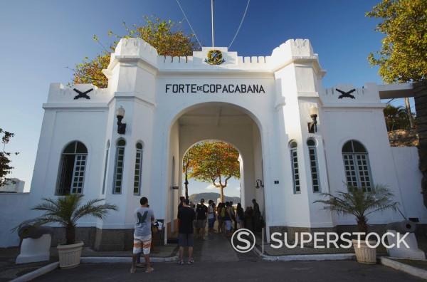 Stock Photo: 1890-153502 Forte de Copacabana Copacabana Fort, Copacabana, Rio de Janeiro, Brazil, South America