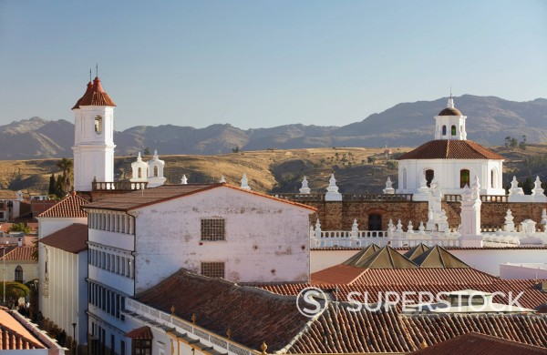 Stock Photo: 1890-153653 Convento de San Felipe Neri, Sucre, UNESCO World Heritage Site, Bolivia, South America