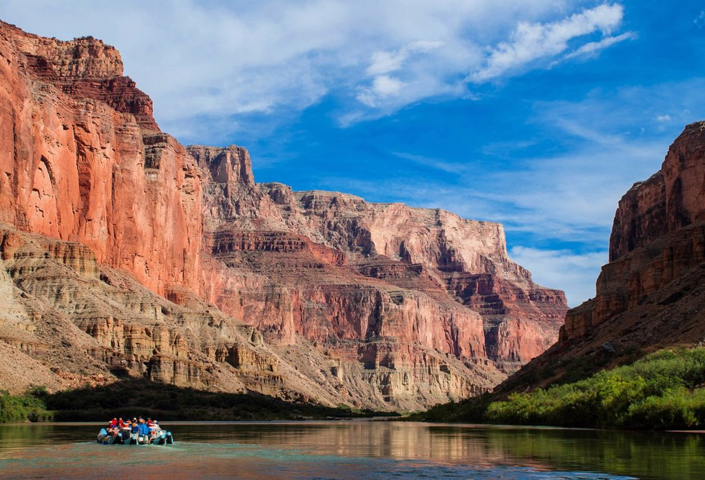 Stock Photo: 1890-154442 Rafting down the Colorado River, Grand Canyon, Arizona, United States of America, North America