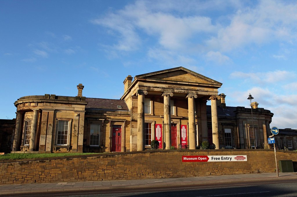 Monkwearmouth Station Museum, a Victorian neo_Classical building, opened as a railway station in 1848, Sunderland, Tyne and Wear, England, United Kingdom, Europe : Stock Photo