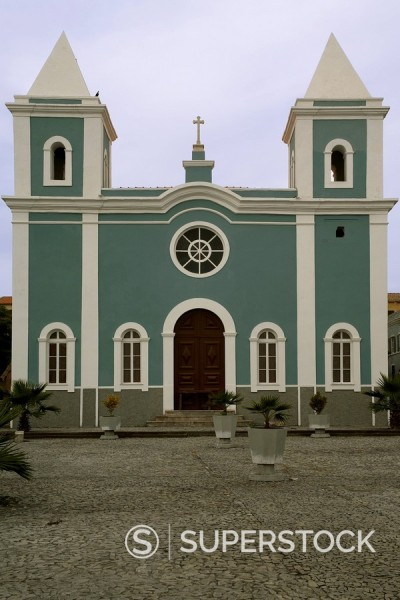 Stock Photo: 1890-15651 Cathedral, Sao Filipe, Fogo, Cape Verde Islands, Africa