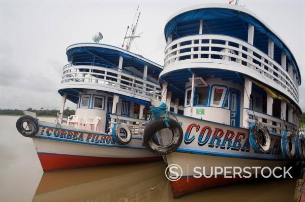 Amazon steamers, near Manaus, Brazil, South America : Stock Photo