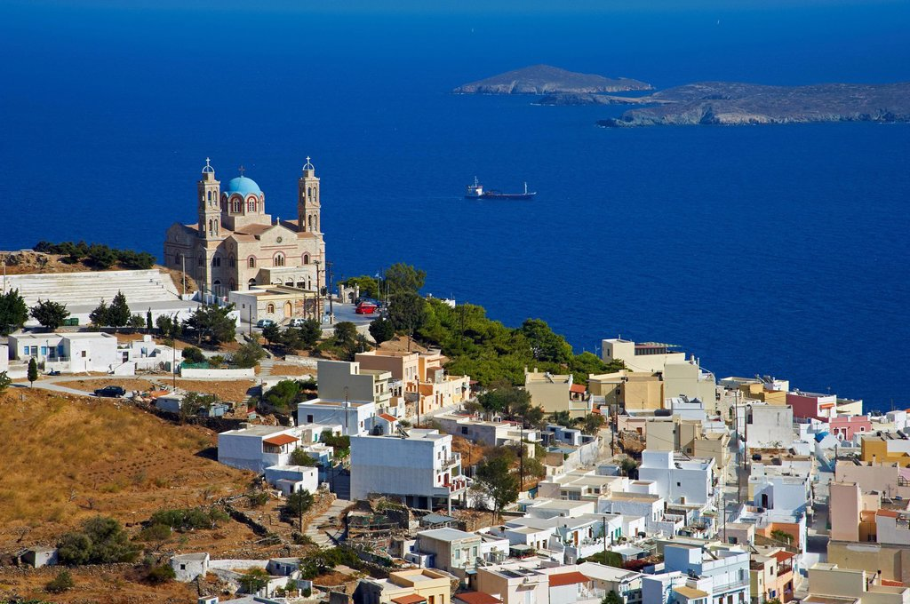 Ermoupoli (Khora), Syros Island, Cyclades, Greek Islands, Greece, Europe : Stock Photo