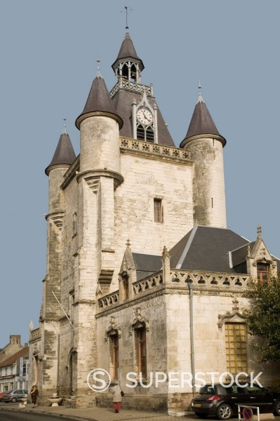 Stock Photo: 1890-15788 Beffroi, Rue, Somme, Nord, France, Europe