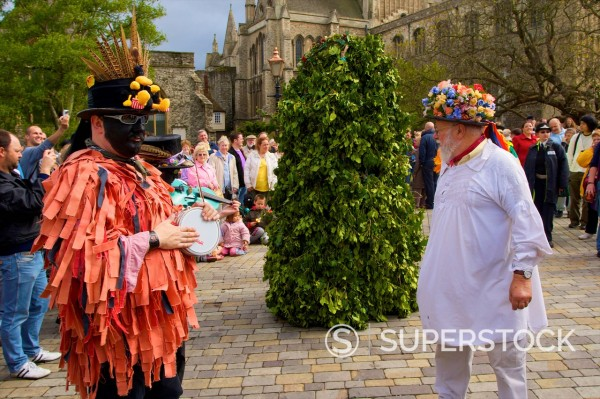 Jack In The Green, Sweep's Festival, Rochester, Kent, England, United Kingdom, Europe : Stock Photo
