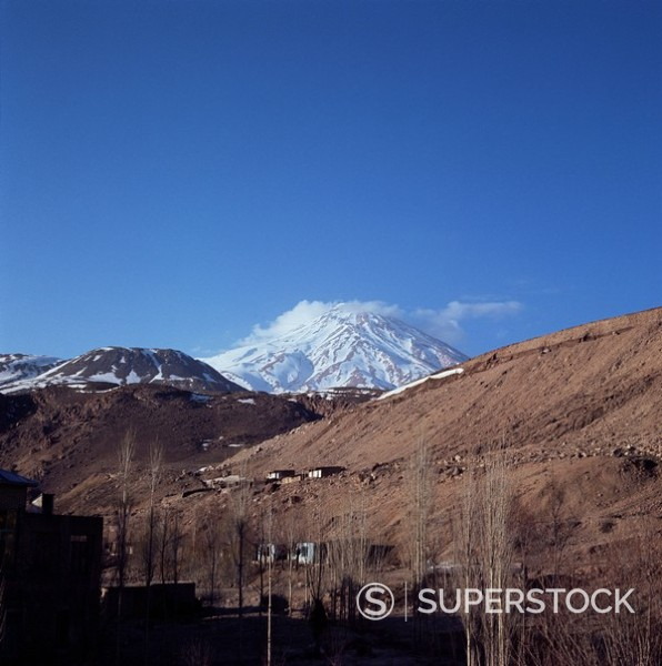 Stock Photo: 1890-1618 Mount Demavand, Iran, Middle East