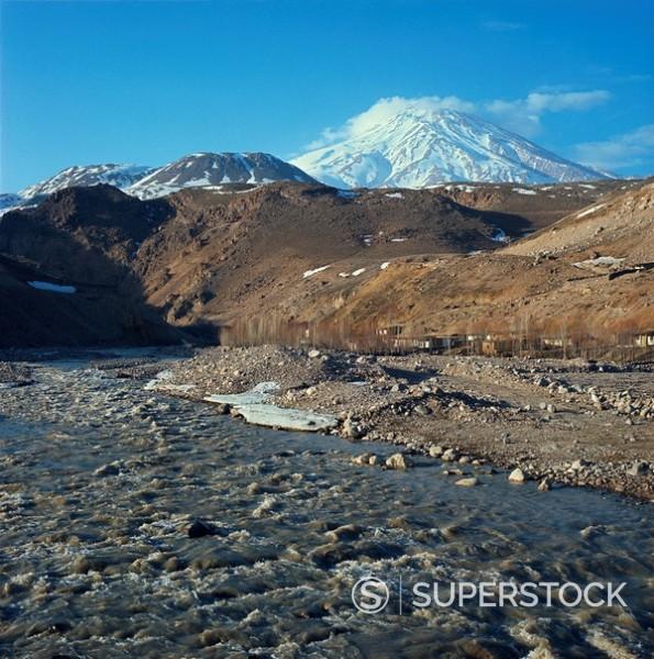 Mount Demavand, Iran, Middle East : Stock Photo