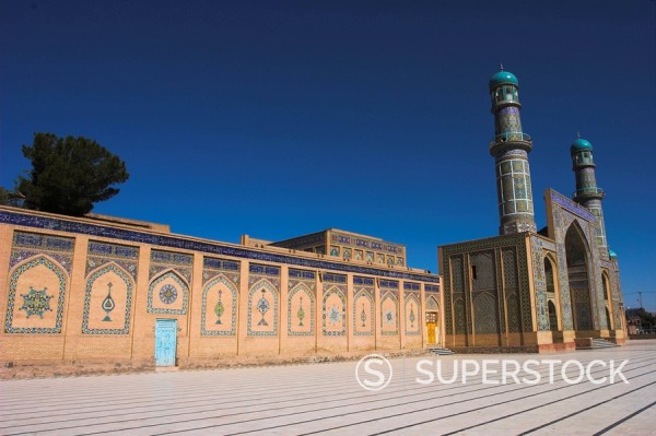 Stock Photo: 1890-16237 The Friday Mosque or Masjet_eJam, built in the year 1200 by the Ghorid Sultan Ghiyasyddin on the site of an earlier 10th century mosque, Herat, Herat Province, Afghanistan, Asia