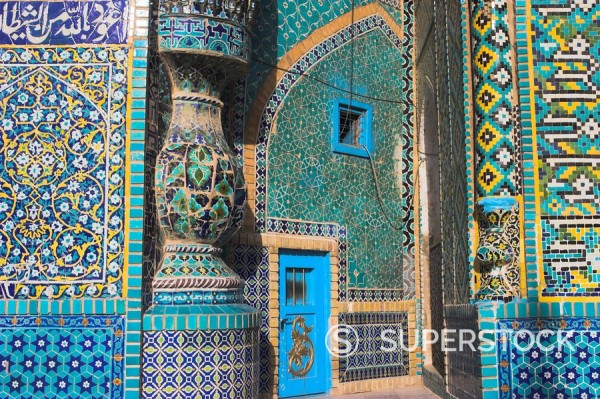 Stock Photo: 1890-16345 Shrine of Hazrat Ali, who was assassinated in 661, Mazar_I_Sharif, Balkh province, Afghanistan, Asia