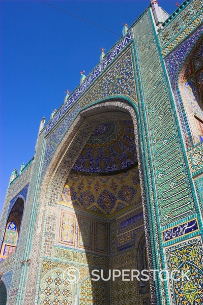 Shrine of Hazrat Ali, who was assassinated in 661, Mazar_I_Sharif, Balkh province, Afghanistan, Asia : Stock Photo