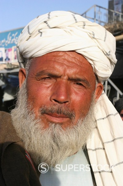 Stock Photo: 1890-16517 Local man, Maimana, Faryab Province, Afghanistan, Asia