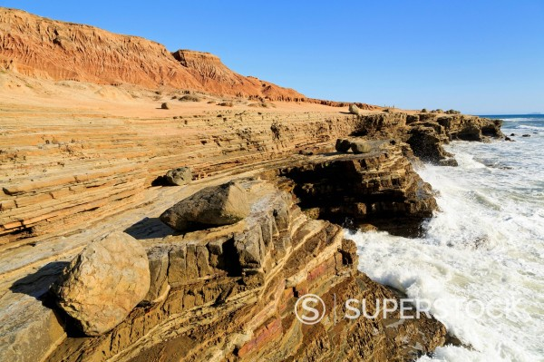 Coastline in Cabrillo National Monument, San Diego, California, United States of America, North America : Stock Photo