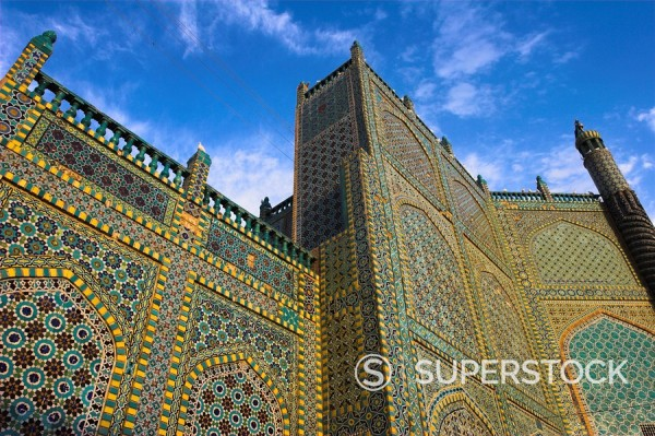 Shrine of Hazrat Ali, who was assassinated in 661, Mazar_I_Sharif, Afghanistan, Asia : Stock Photo