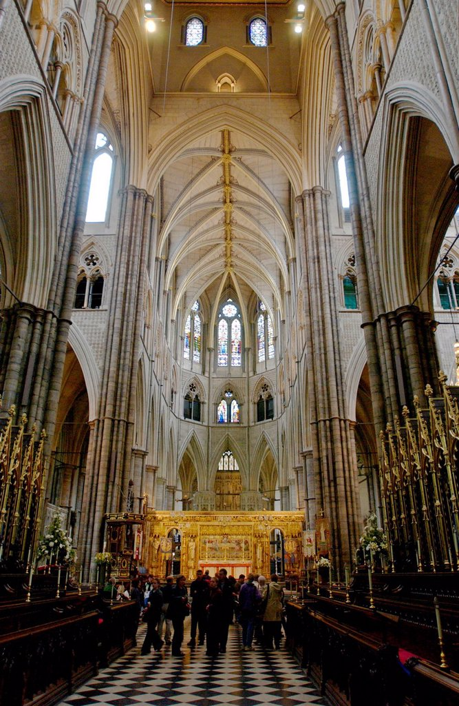 Stock Photo: 1890-169022 Westminster Abbey interior, London, England