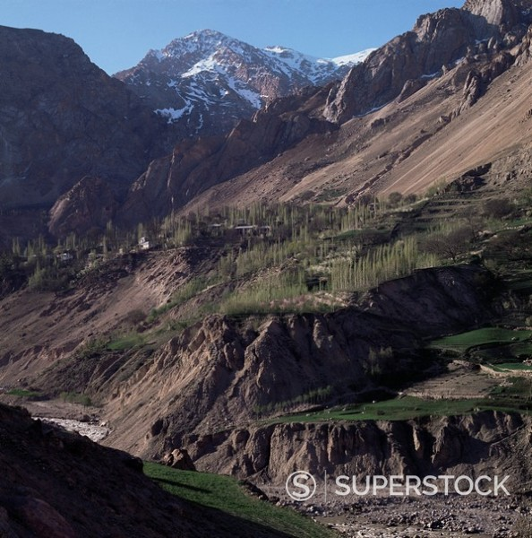 Descent to the Caspian through the Elburz Mountains, Iran, Middle East : Stock Photo