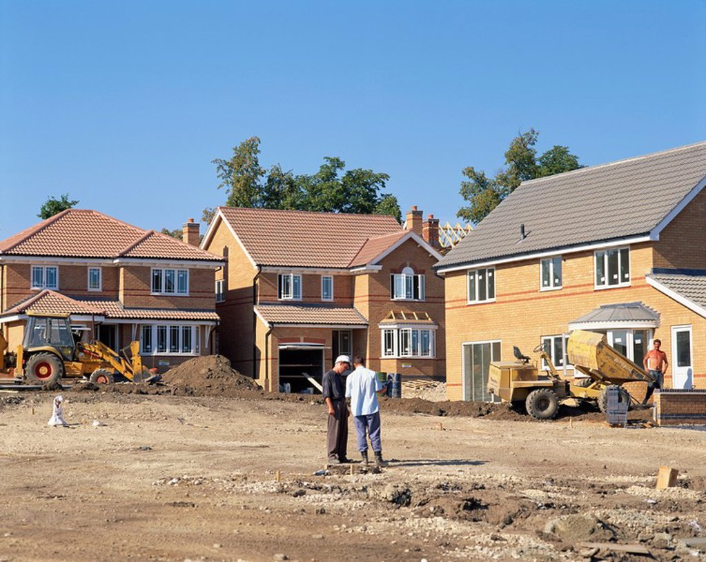 Stock Photo: 1890-18519 New housing estate nearing completion