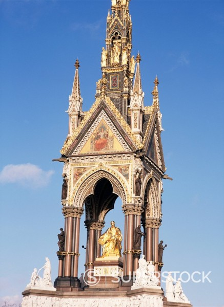 Stock Photo: 1890-19356 Albert Memorial, after renovation, Kensington Gardens, London, England, United Kingdom, Europe