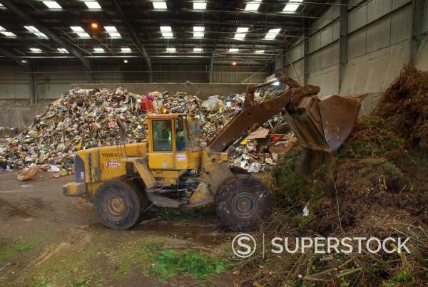 Stock Photo: 1890-19638 Waste disposal depot, England, United Kingdom, Europe