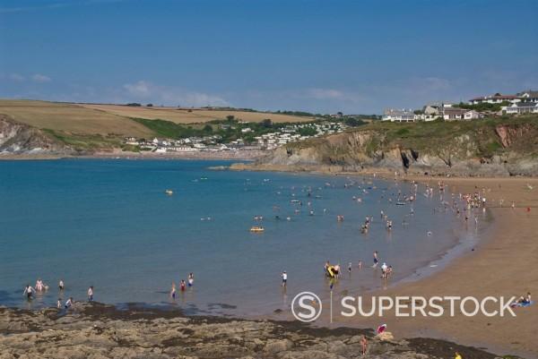 Bigbury on Sea, South Hams, Devon, England, United Kingdom, Europe : Stock Photo
