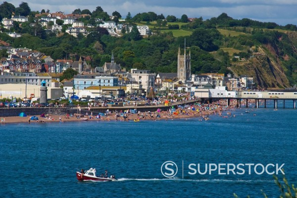Teignmouth Port, Devon, England, United Kingdom, Europe : Stock Photo