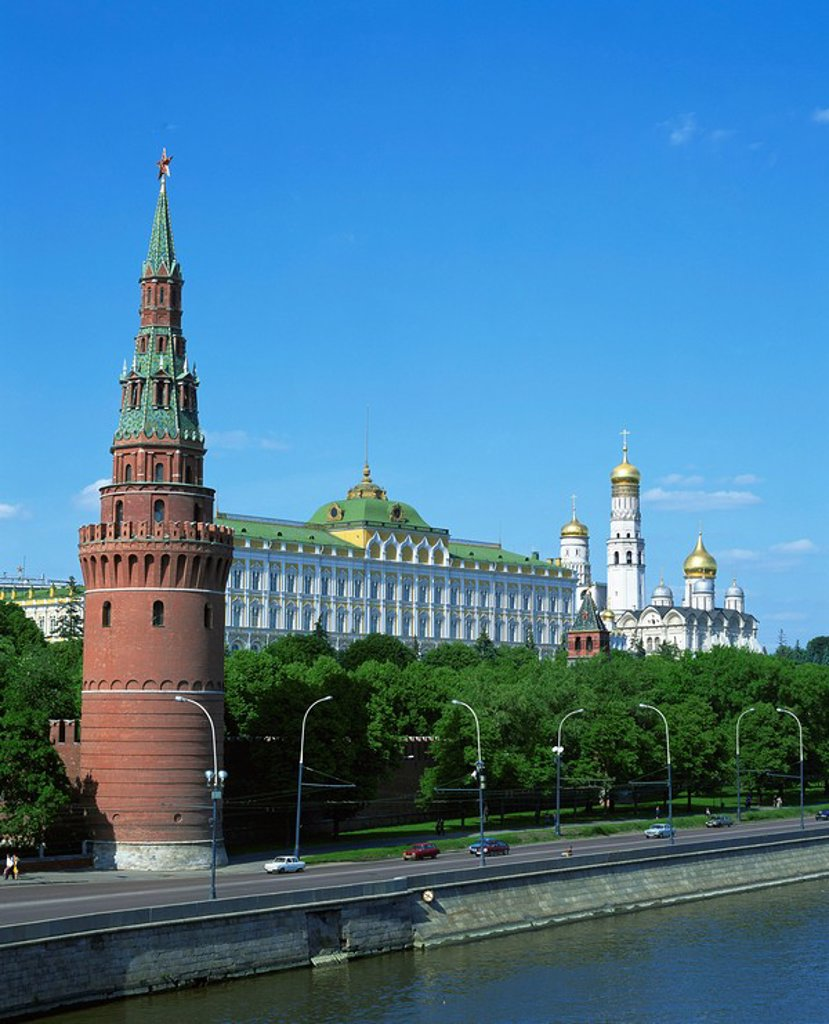 The Kremlin, UNESCO World Heritage Site, Moscow, Russia, Europe : Stock Photo