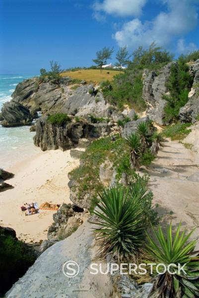 South coast beach, Bermuda, Atlantic Ocean, Central America : Stock Photo