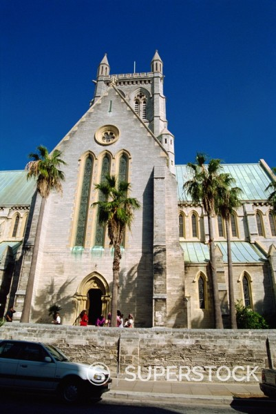 Cathedral of the Most Holy Trinity, Hamilton, Bermuda, Central America : Stock Photo