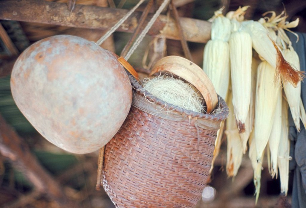 Stock Photo: 1890-23053 Maize and Indian baskets, Brazil, South America