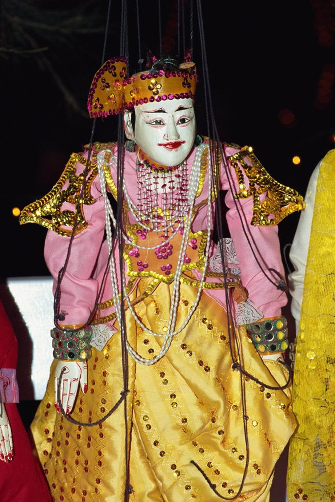 Stock Photo: 1890-23396 Traditional puppet, Mandalay, Myanmar Burma, Asia