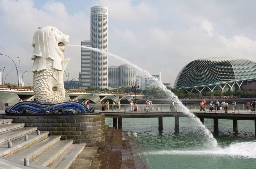 Stock Photo: 1890-23911 The Merlion, the national symbol, Singapore, Southeast Asia, Asia