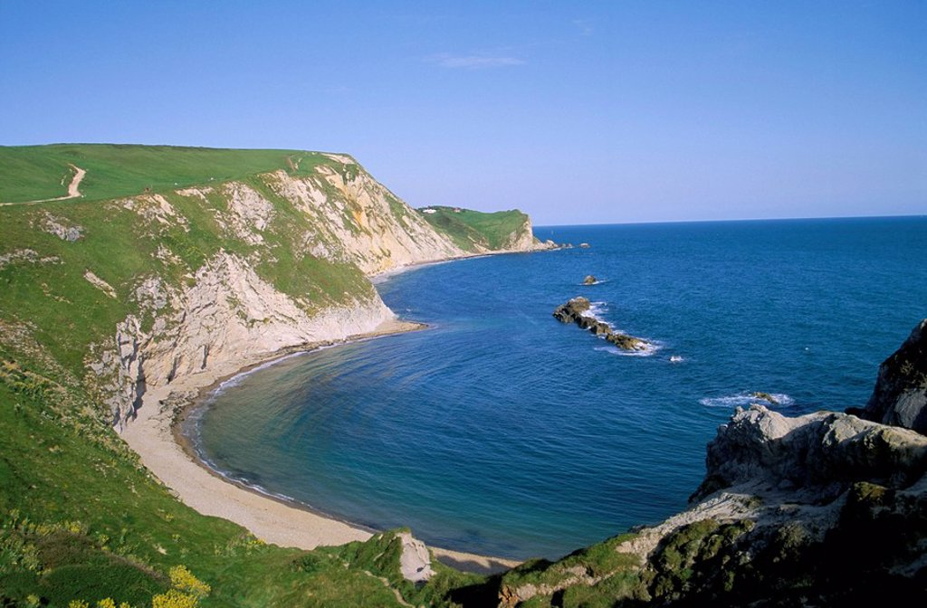 St. Oswald´s Bay and Brandy Bay, Dorset, England, United Kingdom, Europe : Stock Photo
