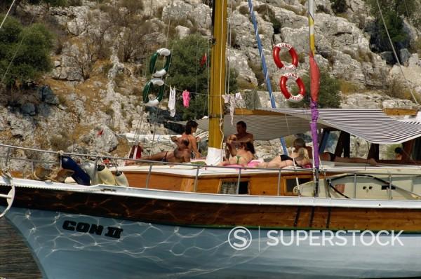 Southern Turkish coast near Fethiye, Anatolia, Turkey, Asia Minor, Eurasia : Stock Photo