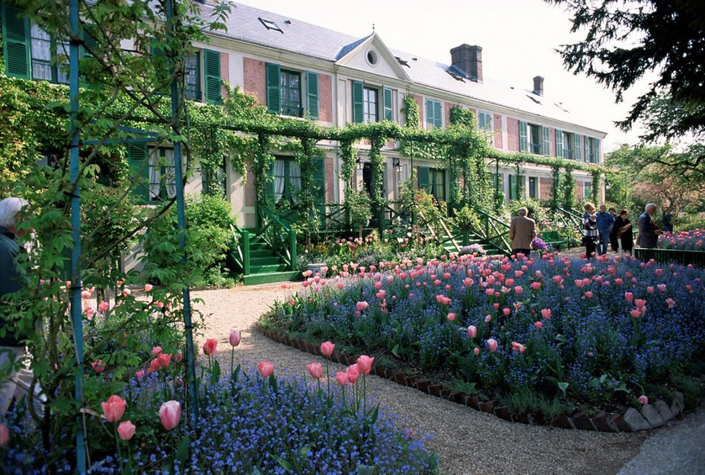 Monet´s house and garden, Giverny, Haute Normandie Normandy, France, Europe : Stock Photo