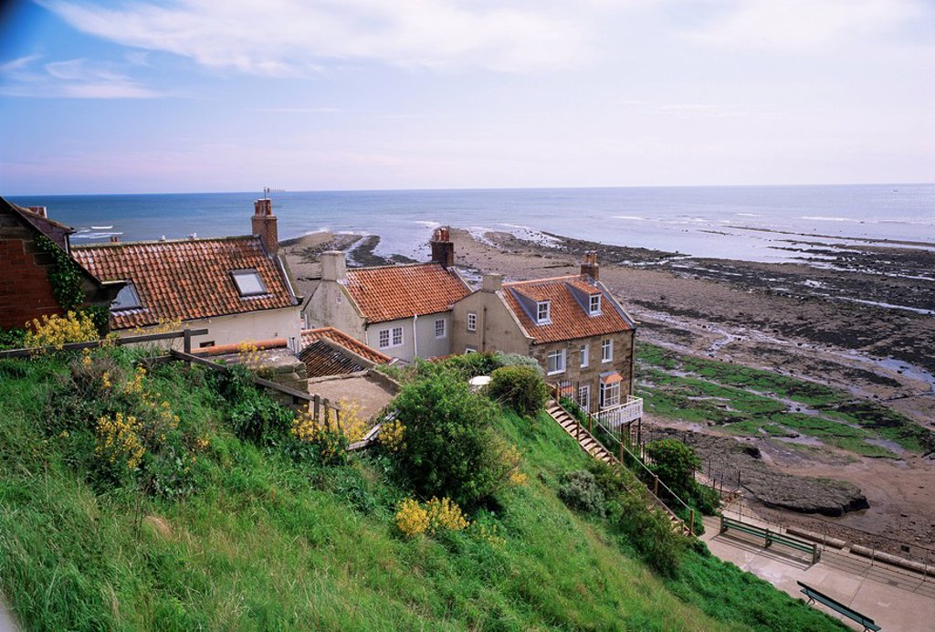 Robin Hood´s Bay, North Yorkshire, Yorkshire, England, United Kingdom, Europe : Stock Photo