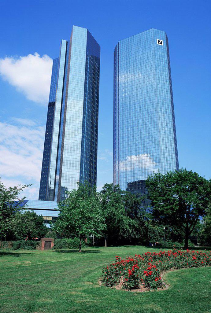 Deutsche Bank, Frankfurt, Germany, Europe : Stock Photo