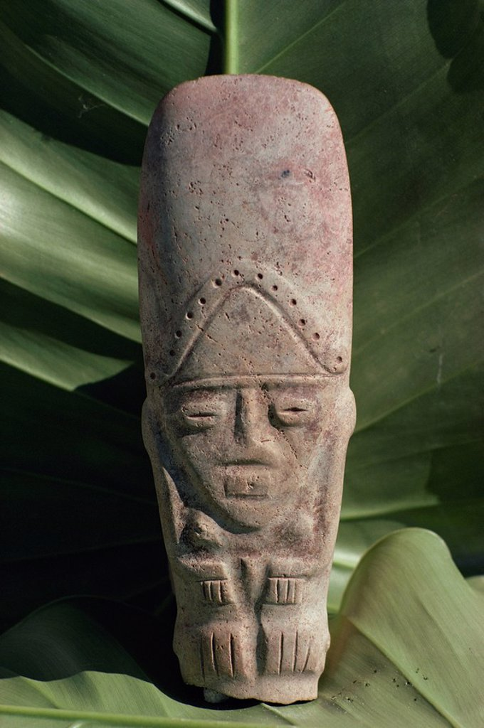 Stock Photo: 1890-26919 Pre_Columbian Indian artefact, from the Hodges Collection, Haiti, West Indies, Caribbean, Central America