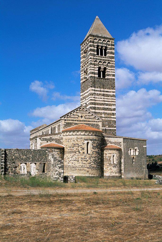 Santissima Trinita di Saccargia, Logudoro region, Sardinia, Italy, Europe : Stock Photo