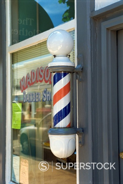 Barber´s shop, Warrenton, Virginia, United States of America, North America : Stock Photo