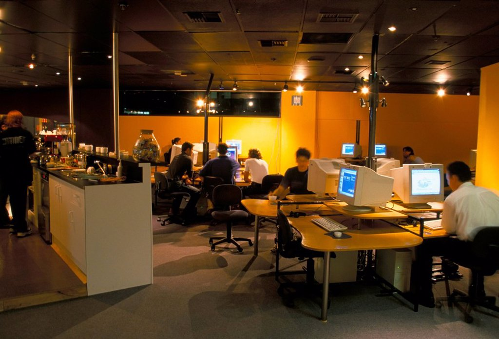 Stock Photo: 1890-29650 Internet cafe, Auckland, North Island, New Zealand, Pacific