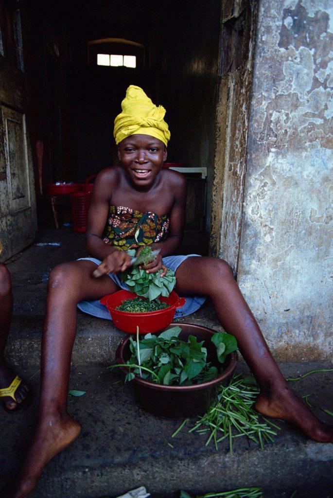 Tower Hill slum, Freetown, Sierra Leone, West Africa, Africa : Stock Photo