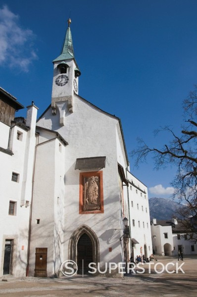 Stock Photo: 1890-31782 Church of St. George in the Hohensalzburg Fortress, Salzburg, Austria, Europe